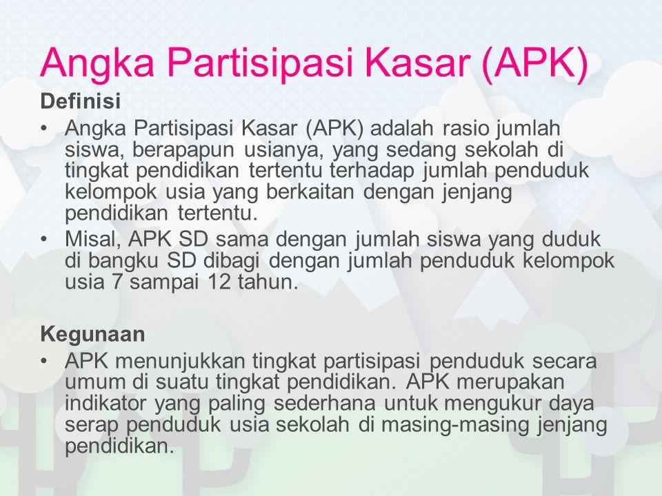 Angka Partisipasi Kasar (APK)