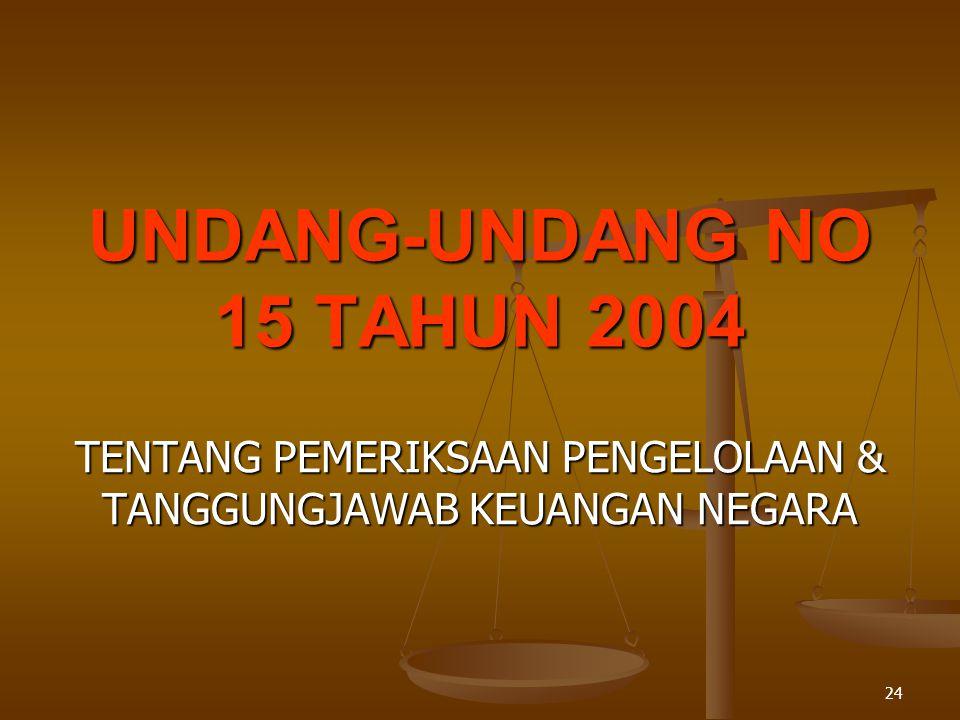 UNDANG-UNDANG NO 15 TAHUN 2004