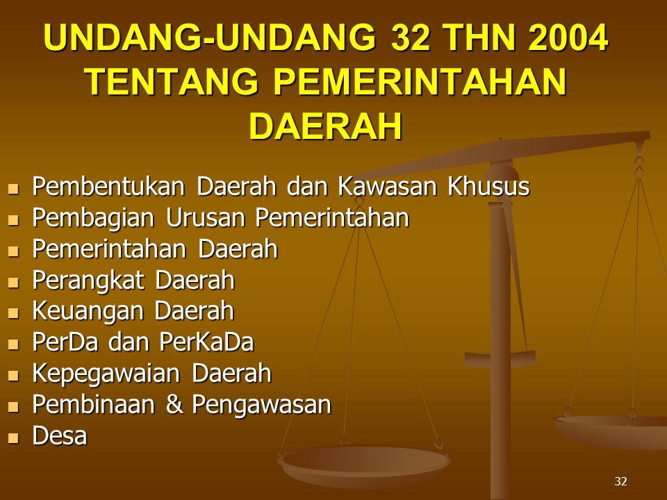 UNDANG-UNDANG 32 THN 2004 TENTANG PEMERINTAHAN DAERAH