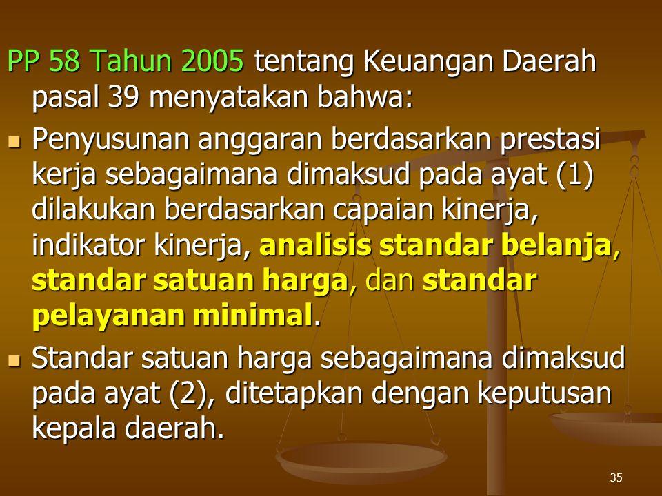 PP 58 Tahun 2005 tentang Keuangan Daerah pasal 39 menyatakan bahwa: