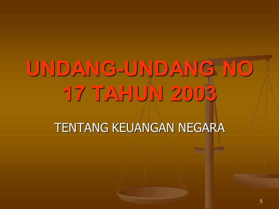 UNDANG-UNDANG NO 17 TAHUN 2003