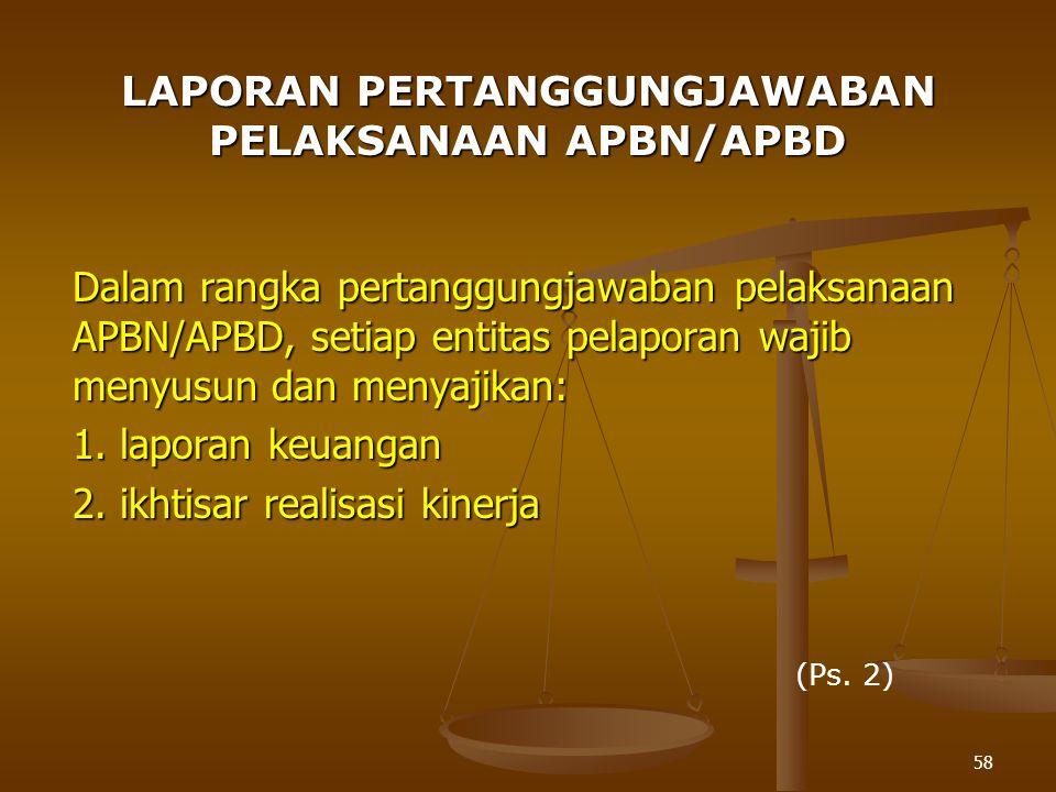 LAPORAN PERTANGGUNGJAWABAN PELAKSANAAN APBN/APBD