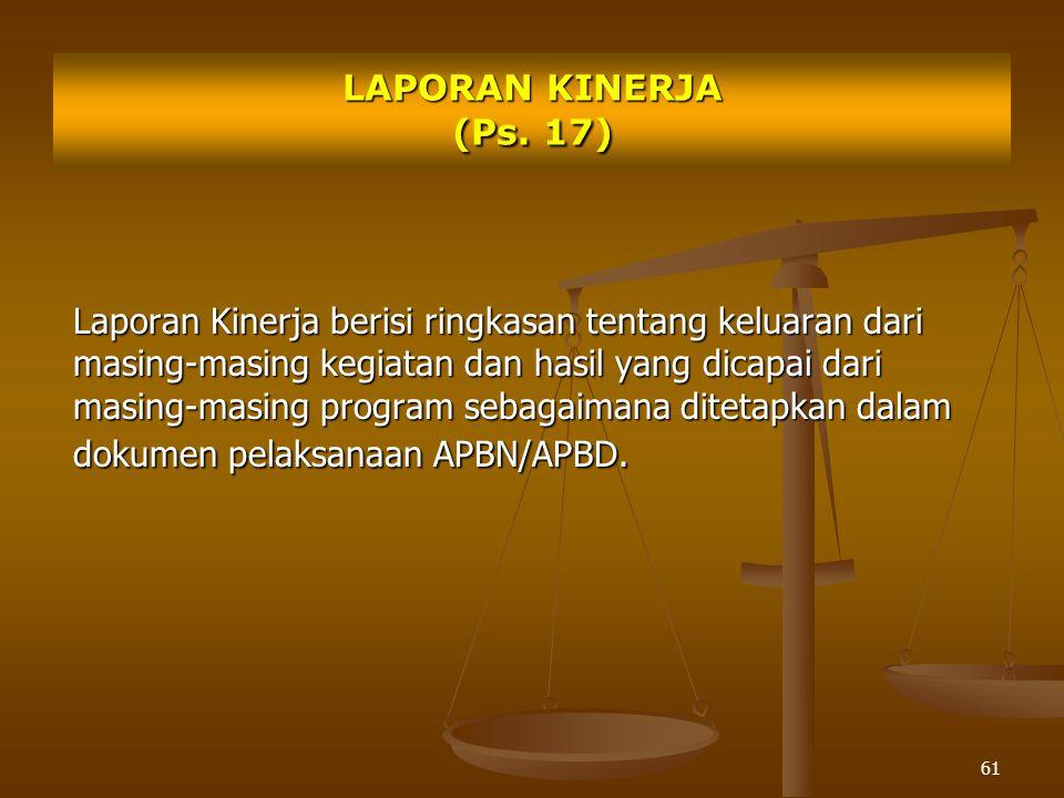 LAPORAN KINERJA (Ps. 17)