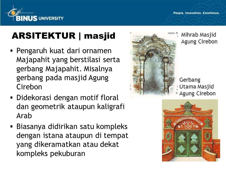 ARSITEKTUR | masjid Mihrab Masjid Agung Cirebon.