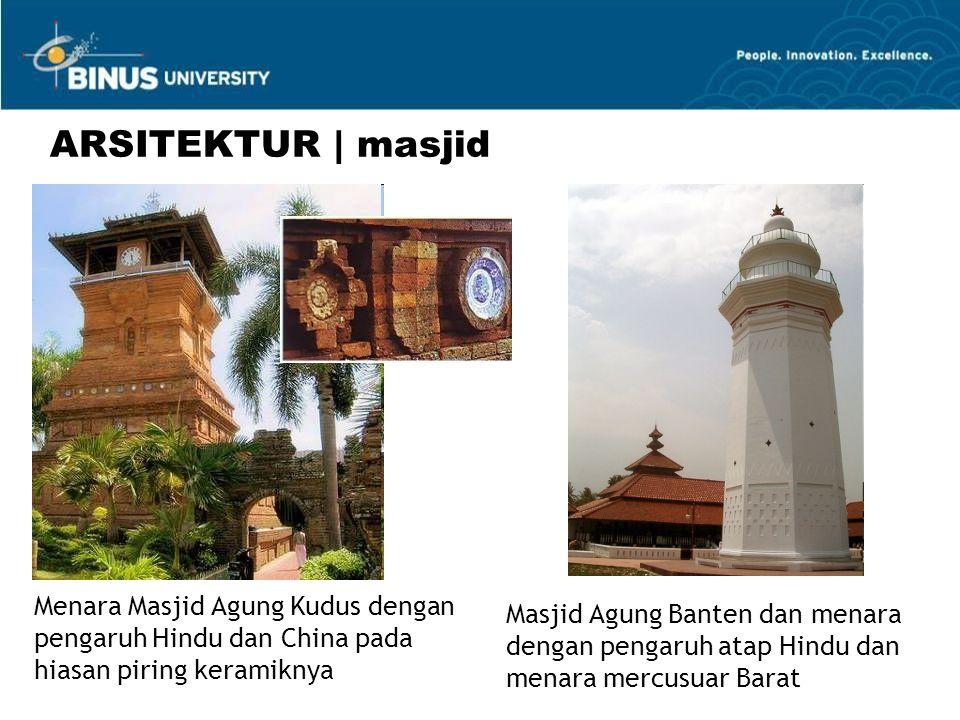 ARSITEKTUR | masjid Menara Masjid Agung Kudus dengan pengaruh Hindu dan China pada hiasan piring keramiknya.