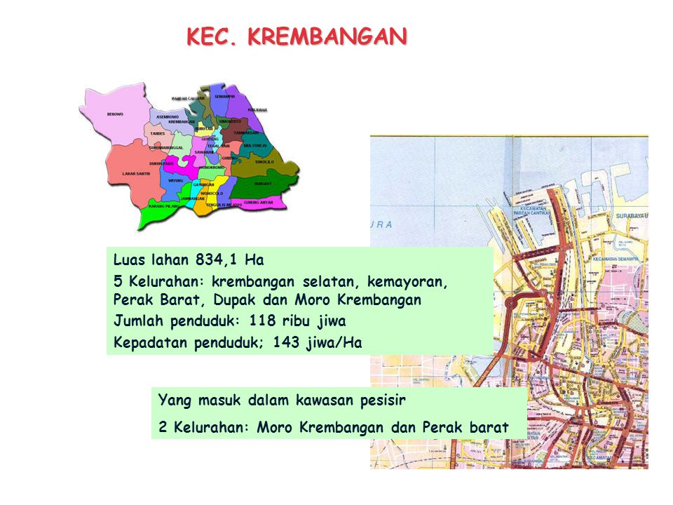 KEC. KREMBANGAN Luas lahan 834,1 Ha