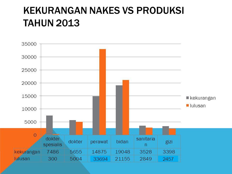 Kekurangan Nakes Vs Produksi Tahun 2013