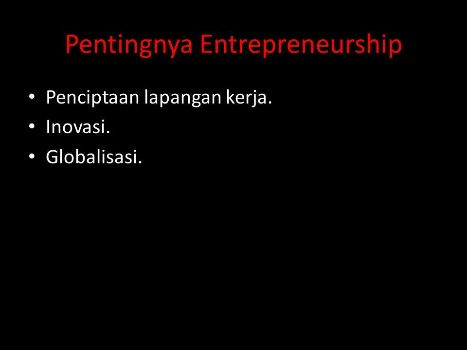 Pentingnya Entrepreneurship