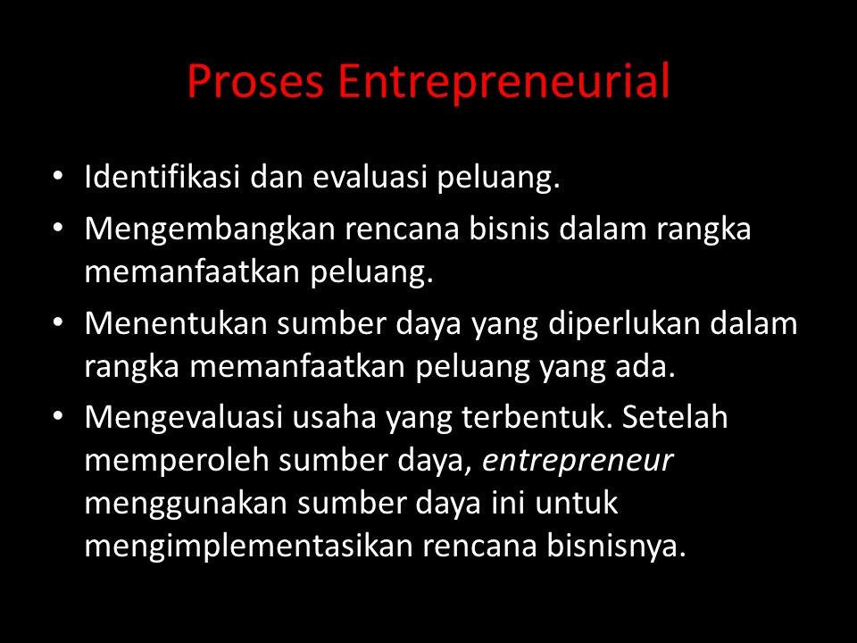 Proses Entrepreneurial