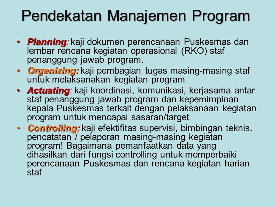 Pendekatan Manajemen Program