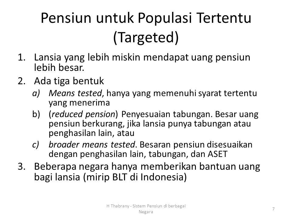 Pensiun untuk Populasi Tertentu (Targeted)