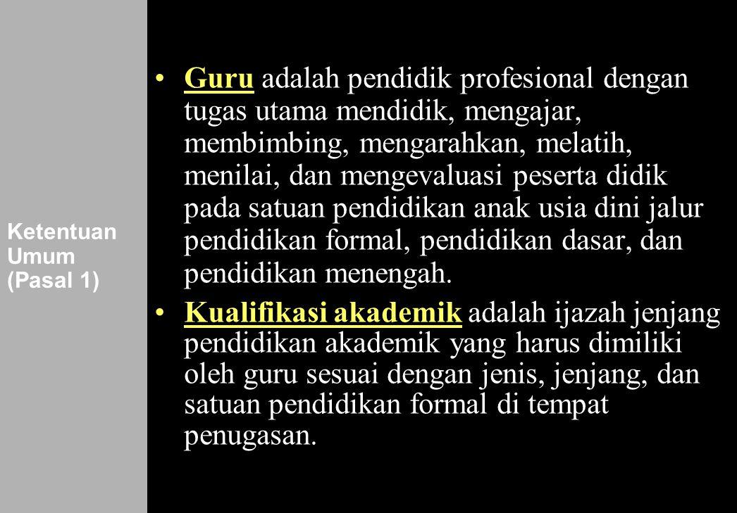 Ketentuan Umum (Pasal 1)