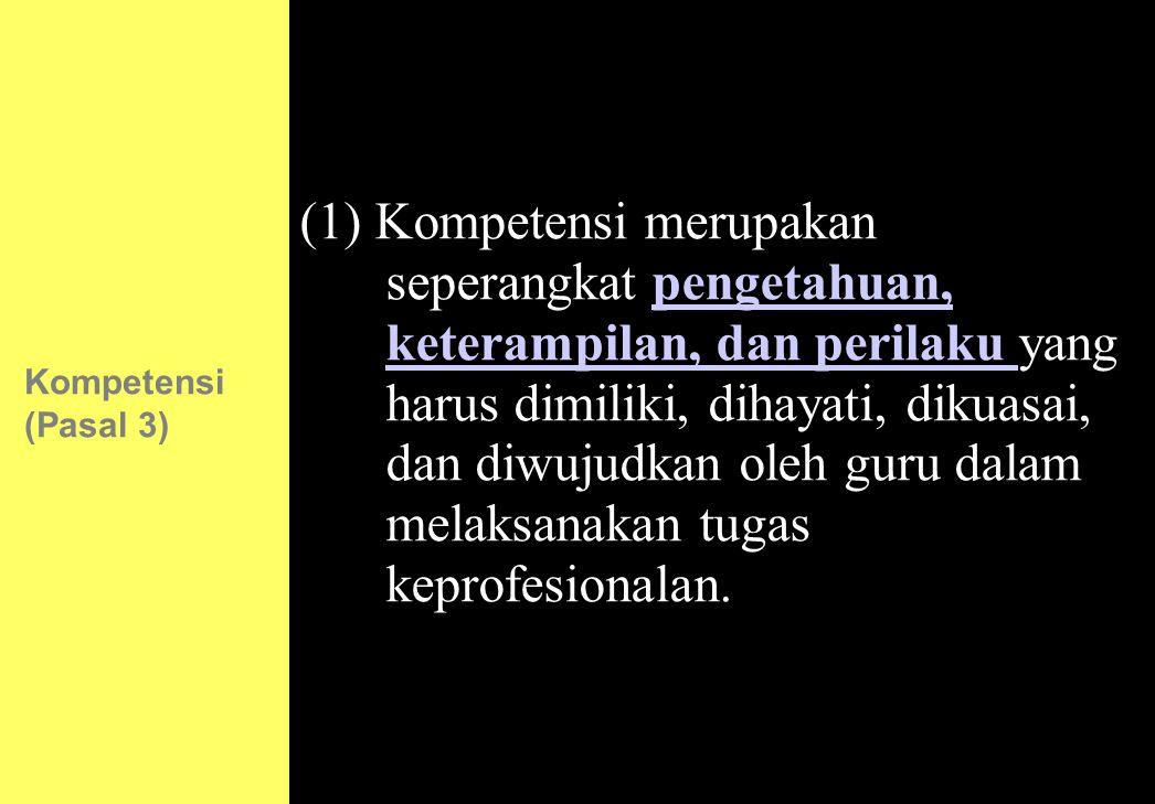Kompetensi (Pasal 3)