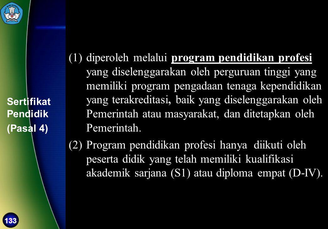 Sertifikat Pendidik (Pasal 4)