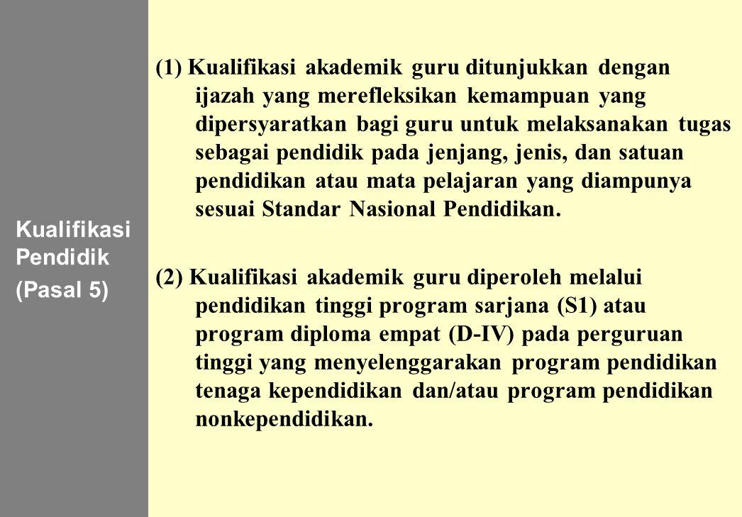 Kualifikasi Pendidik (Pasal 5)