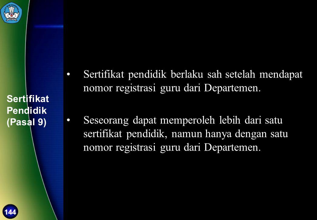 Sertifikat Pendidik (Pasal 9)