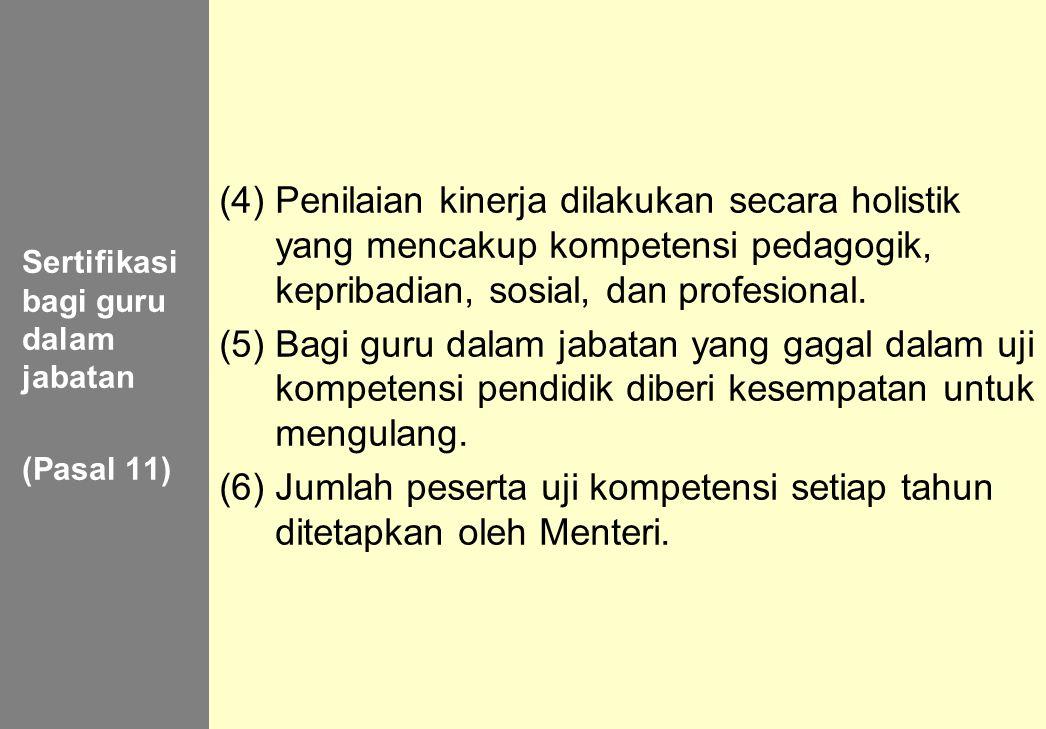 Sertifikasi bagi guru dalam jabatan