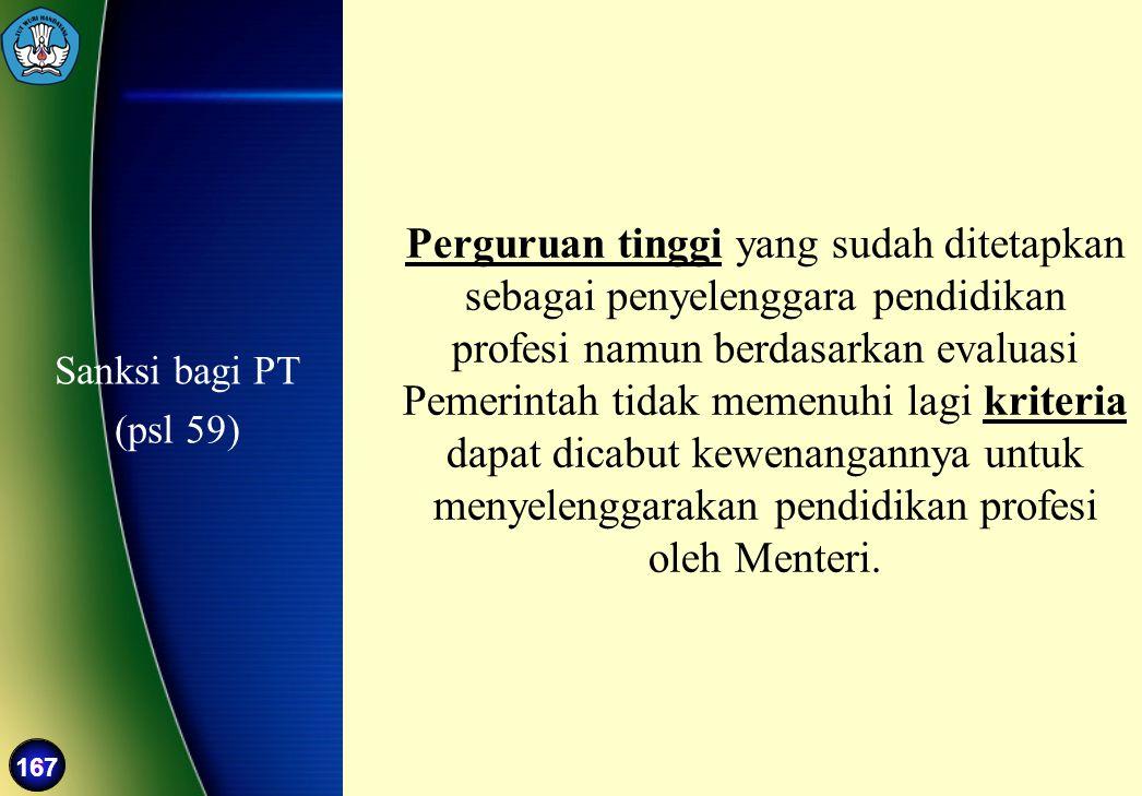 Sanksi bagi PT (psl 59)