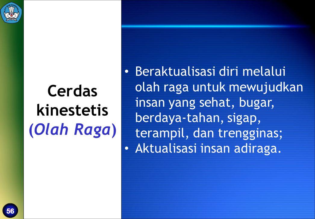 Cerdas kinestetis (Olah Raga)
