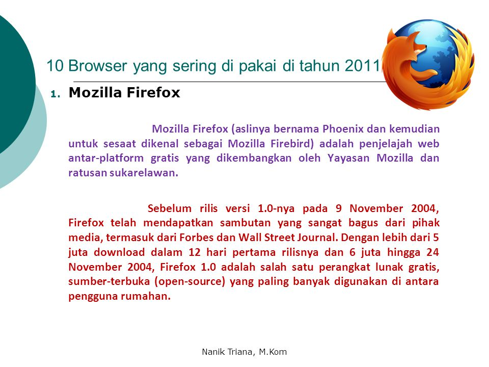 10 Browser yang sering di pakai di tahun 2011