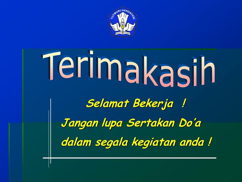 Terimakasih Jangan lupa Sertakan Do'a dalam segala kegiatan anda !
