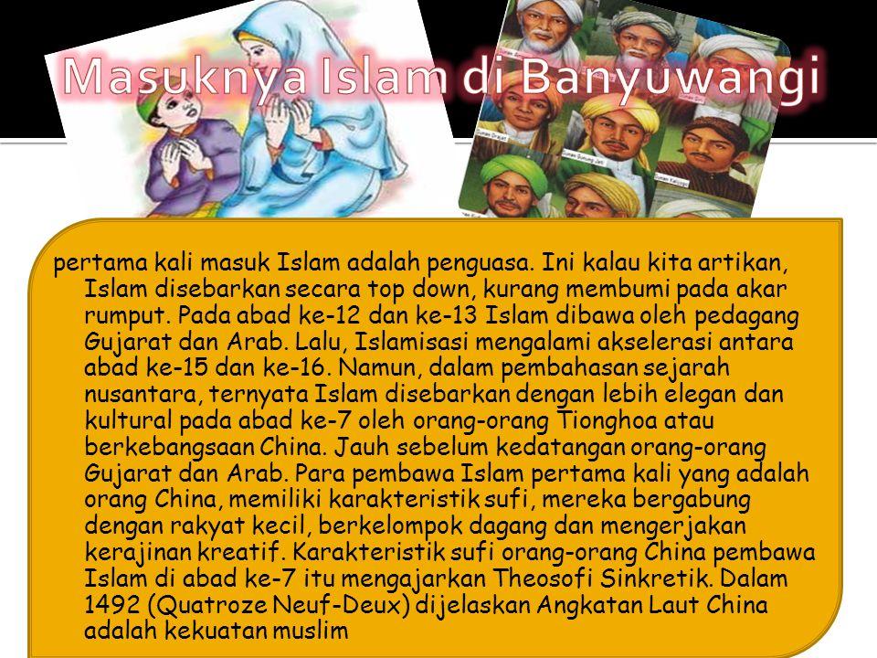 Masuknya Islam di Banyuwangi