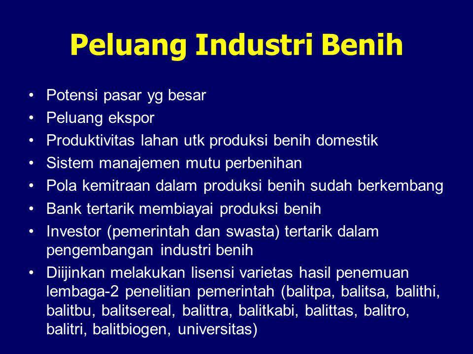 Peluang Industri Benih