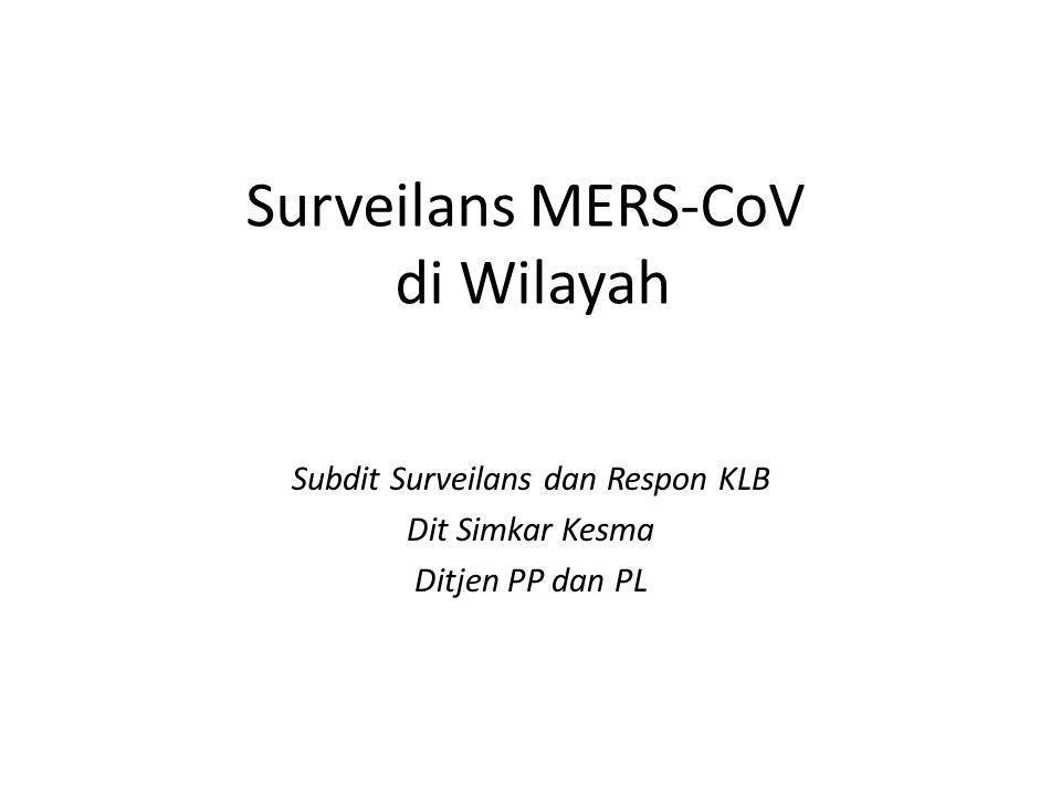Surveilans MERS-CoV di Wilayah