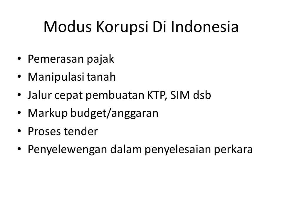 Modus Korupsi Di Indonesia