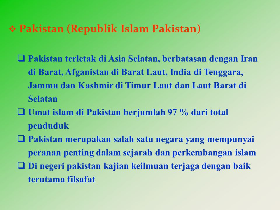 Pakistan (Republik Islam Pakistan)