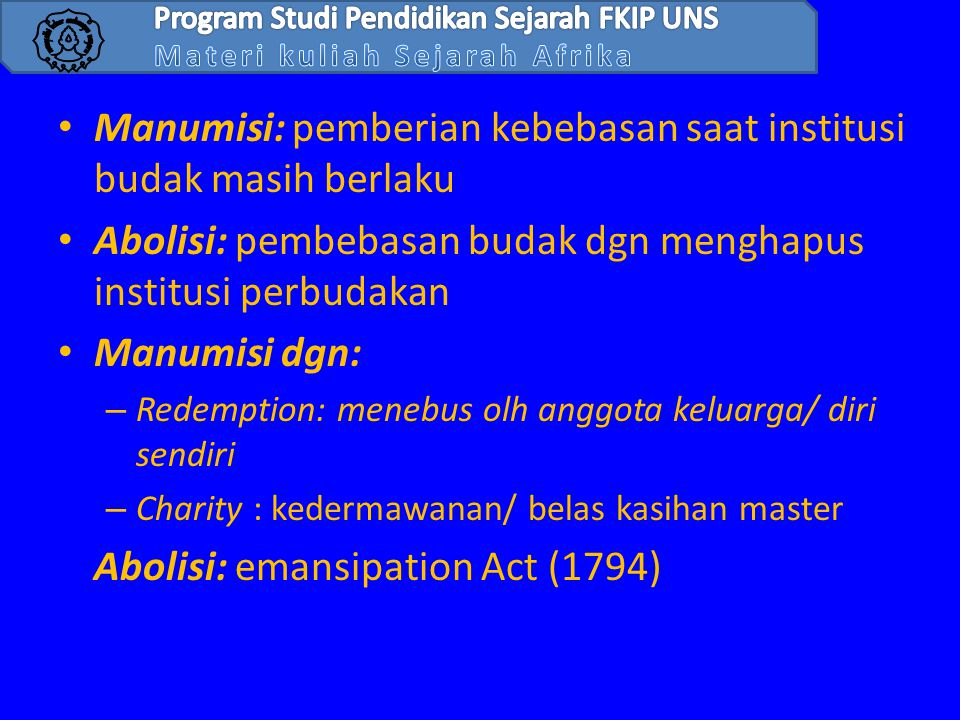 Program Studi Pendidikan Sejarah FKIP UNS