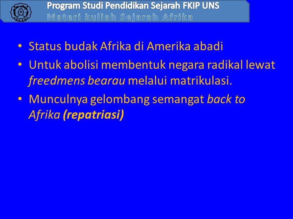 Status budak Afrika di Amerika abadi
