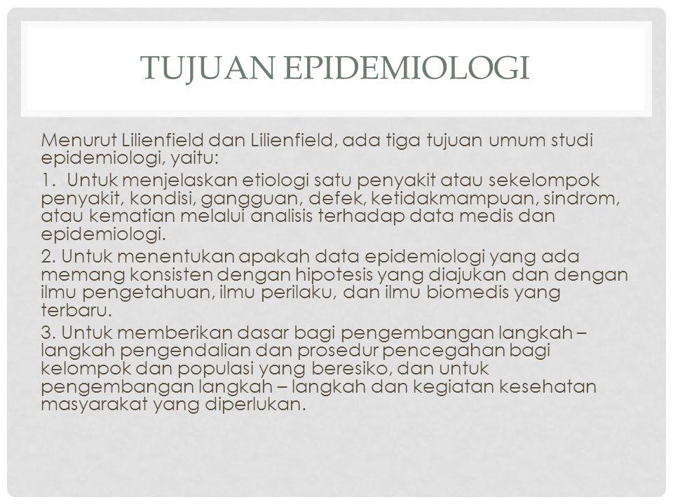 Tujuan Epidemiologi