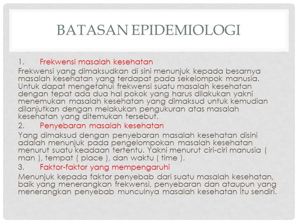 Batasan Epidemiologi