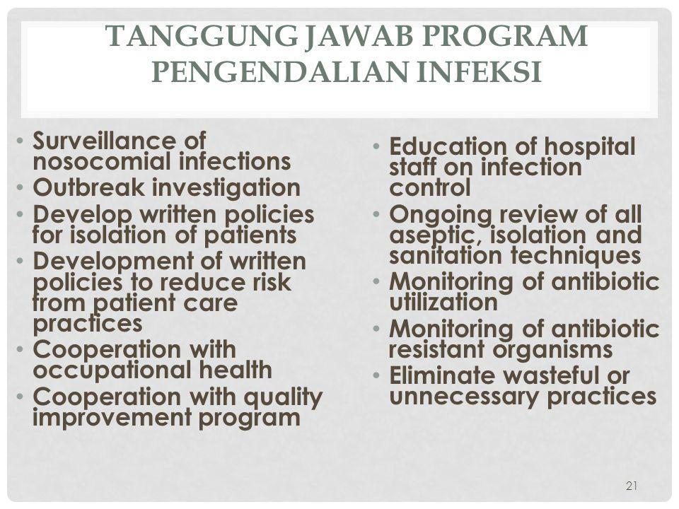 Tanggung Jawab Program Pengendalian Infeksi