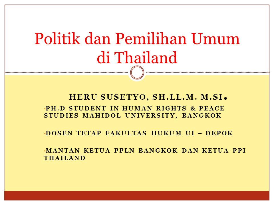 Politik dan Pemilihan Umum di Thailand