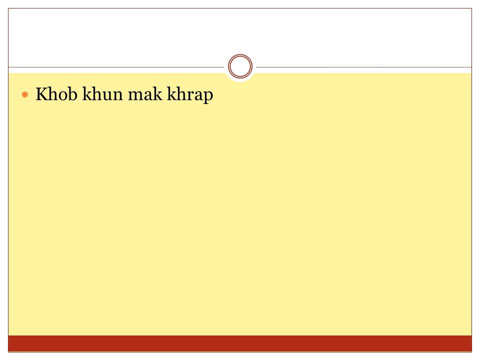 Khob khun mak khrap