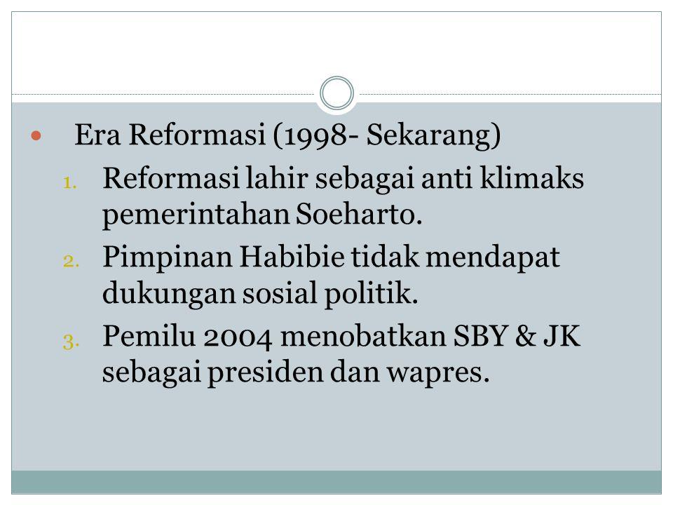 Era Reformasi (1998- Sekarang)