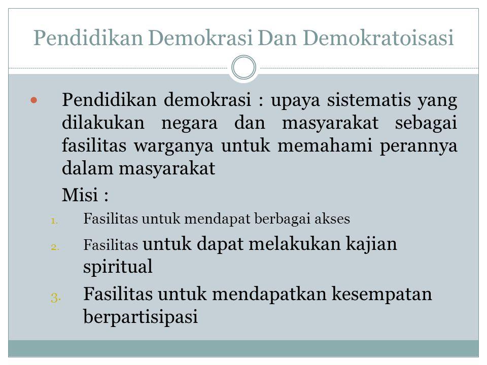 Pendidikan Demokrasi Dan Demokratoisasi