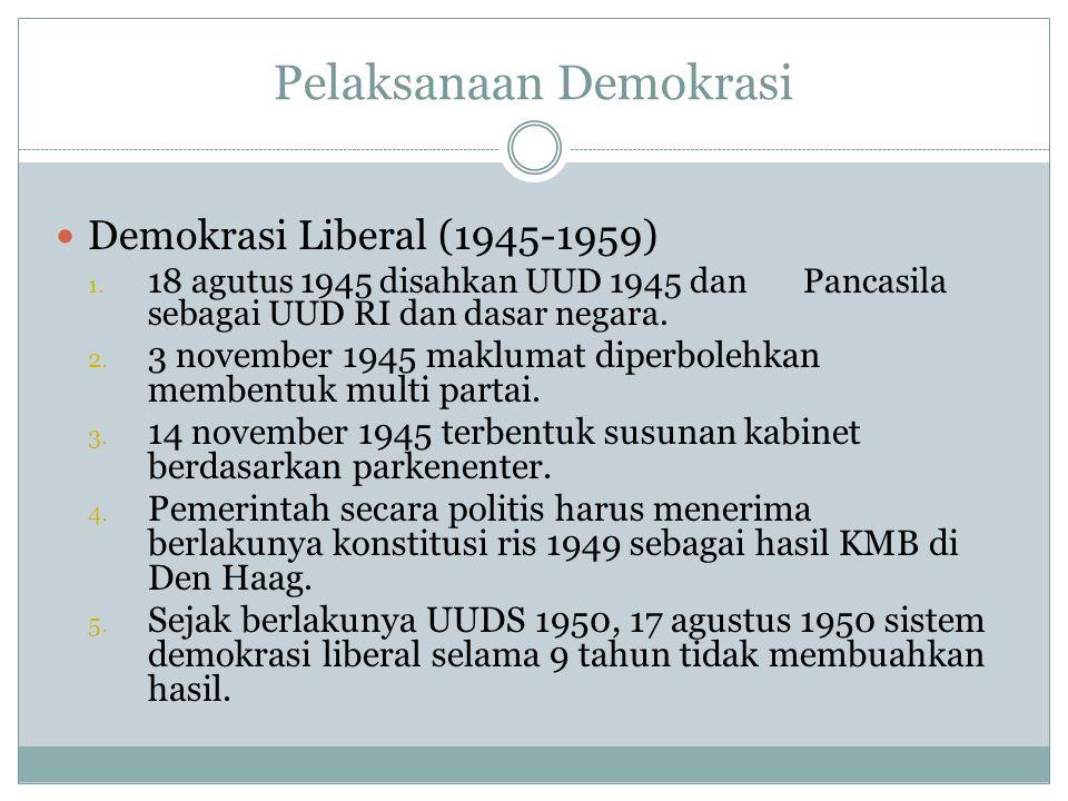 Pelaksanaan Demokrasi