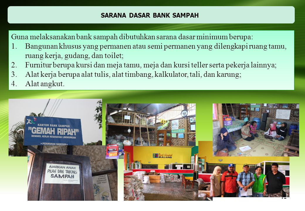 SARANA DASAR BANK SAMPAH
