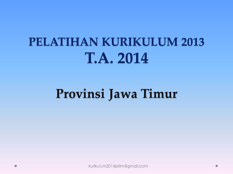 PELATIHAN KURIKULUM 2013 T.A. 2014 Provinsi Jawa Timur