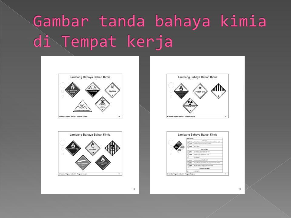 Gambar tanda bahaya kimia di Tempat kerja