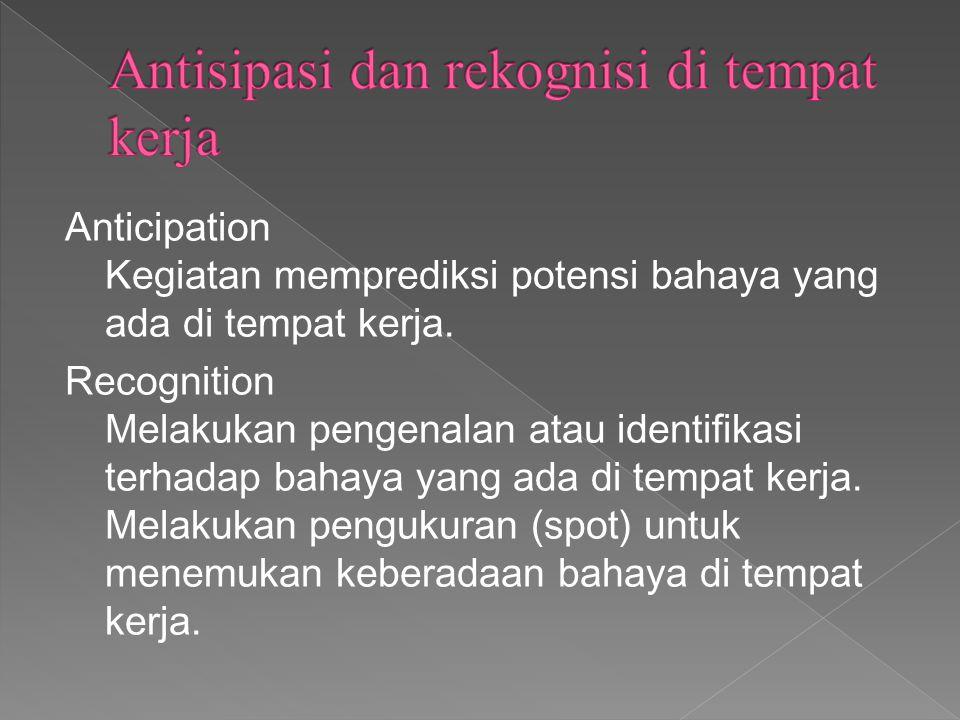 Antisipasi dan rekognisi di tempat kerja