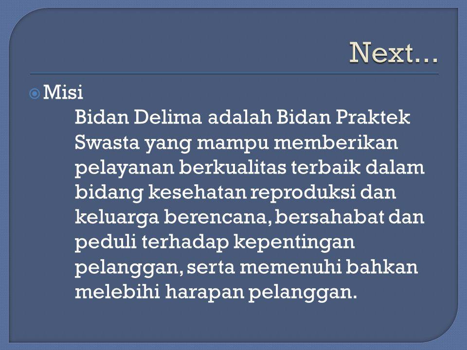 Next... Misi.