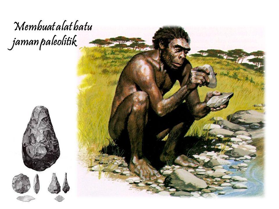 Membuat alat batu jaman paleolitik