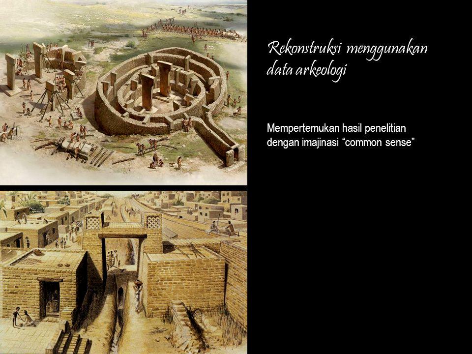 Rekonstruksi menggunakan data arkeologi