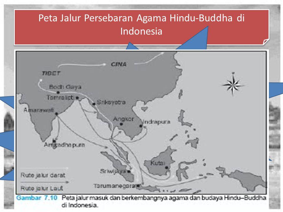 Peta Jalur Persebaran Agama Hindu-Buddha di Indonesia