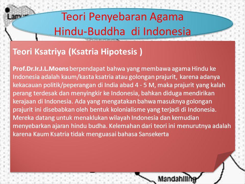 Teori Penyebaran Agama Hindu-Buddha di Indonesia