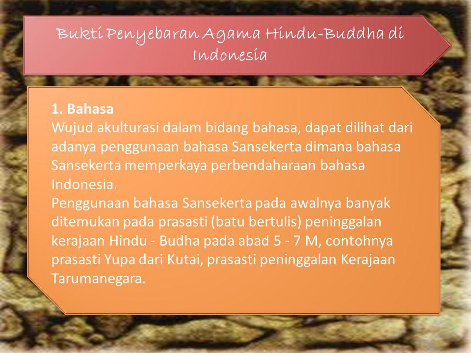 Bukti Penyebaran Agama Hindu-Buddha di Indonesia